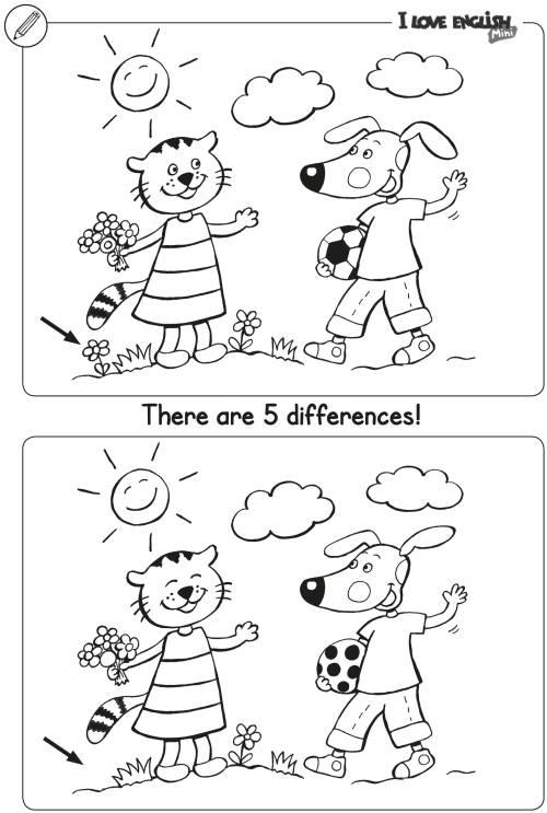 I Love English Mini Unterschiede finden