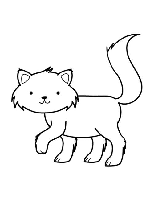 Kostenlose Malvorlage Katzen Katze ausmalen zum Ausmalen