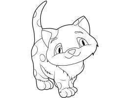 Ausmalbild Katzen Kleine Katze ausmalen kostenlos ausdrucken