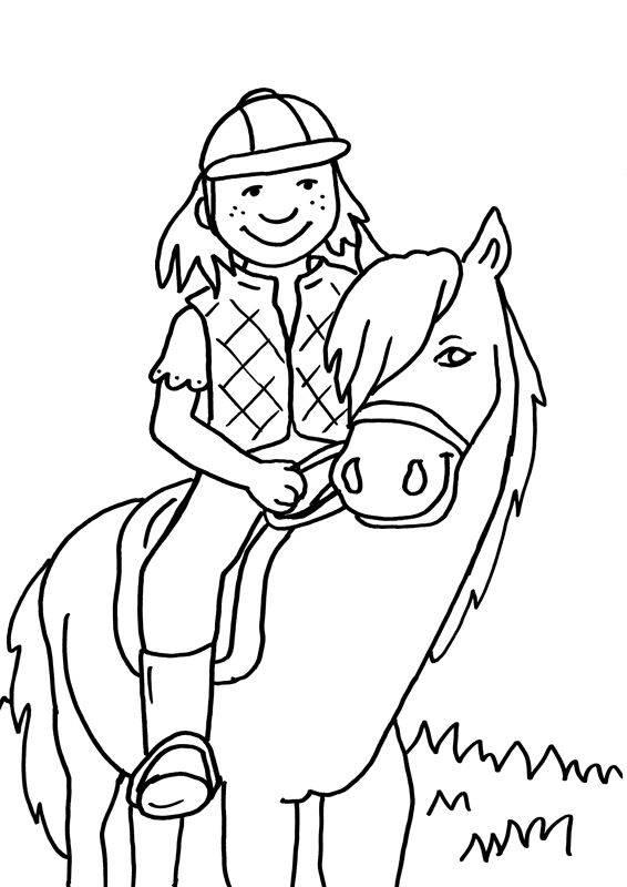 Paard Kleurplaat Spring Malvorlage Springendes Pferd
