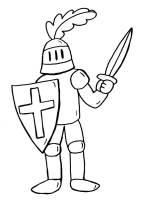 Kostenlose Malvorlage Ritter und Drachen Ritter zum Ausmalen