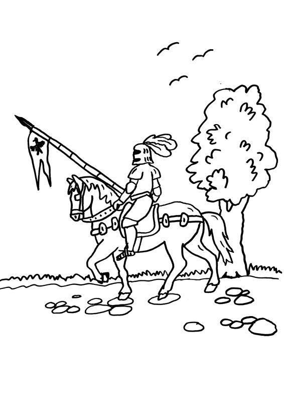 Kostenlose Malvorlage Ritter und Drachen Ritterturnier