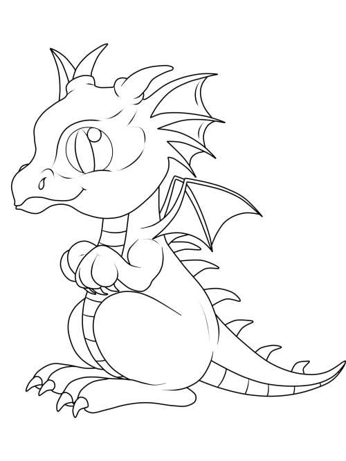 Ausmalbilder Drachen Baby - Malvorlagen
