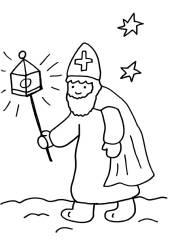 Kostenlose Ausmalbilder und Malvorlagen Sankt Martin zum
