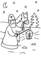 Ausmalbild Sankt Martin Sankt Martin mit Pferd kostenlos ...