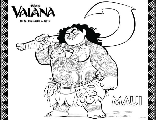Vajana Als Malvorlagen Zum Ausdrucken  Coloring and Malvorlagan