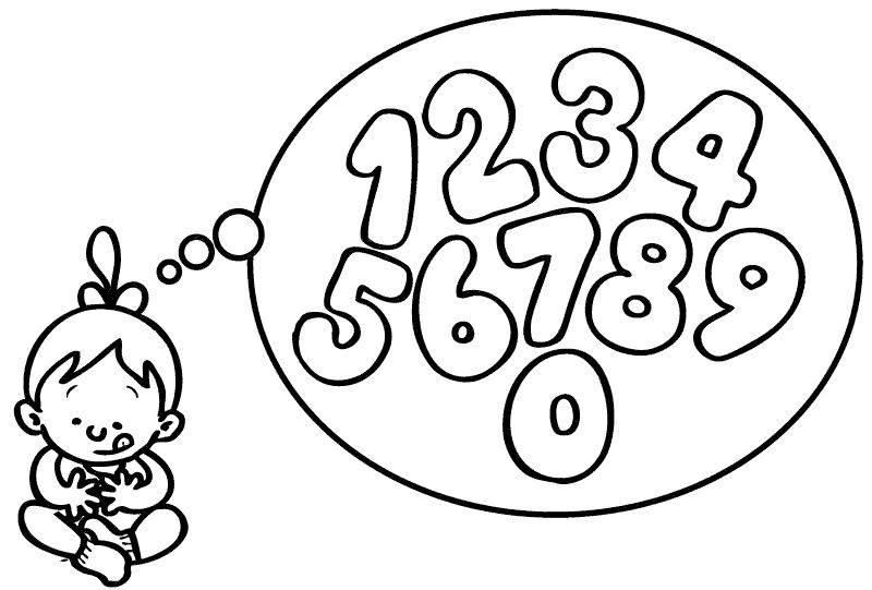 Kostenlose Ausmalbilder und Malvorlagen Zahlen zum