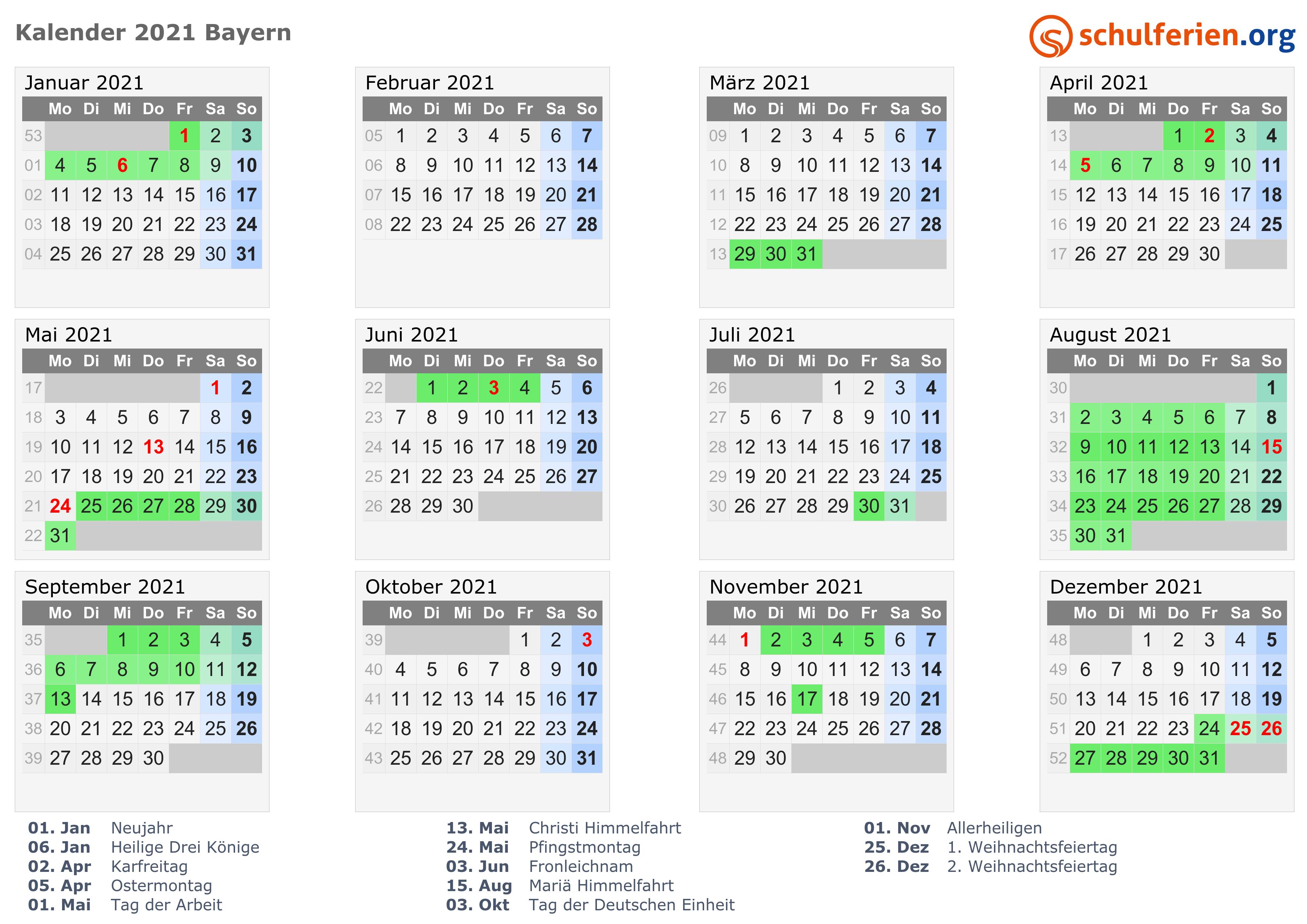 ferienzeiten bayern 2018