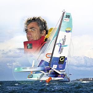 portfolio à Caen et Vire, affiche skipper Gilles Lamiré