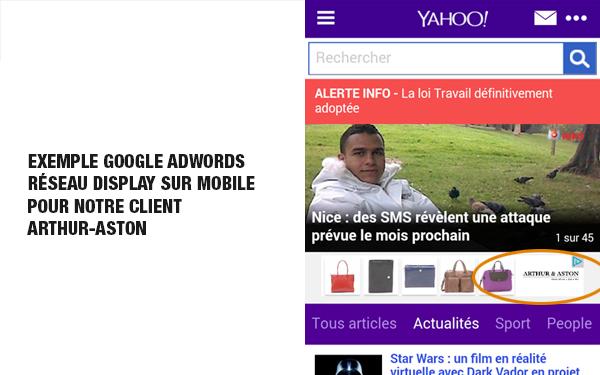 Campagne google ads réseau display