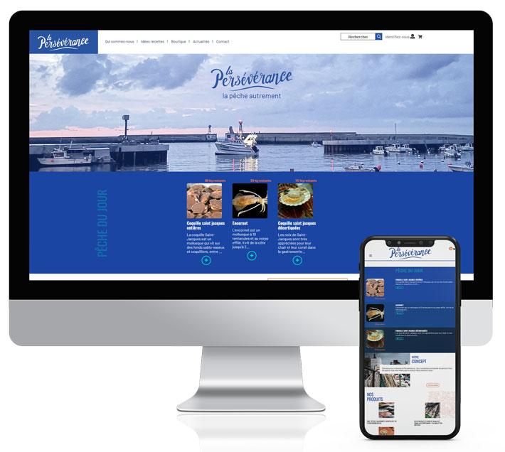 Création-Site web e-commerce Schuller Graphic- La Persévérance