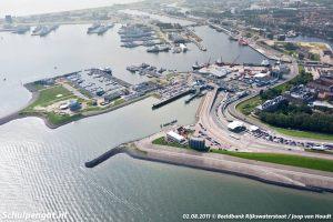 Den Helder – Luchtfoto TESO-veerhaven in 2011