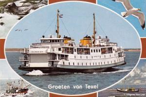 Ansichtkaart Texel met de Marsdiep