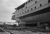 De uiterst vloeiende lijnen zijn goed te zien op deze foto van de Marsdiep op de scheepswerf in Zaandam.