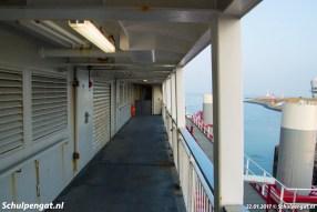 Het fietsendek van de veerboot Schulpengat van de TESO-bootdienst naar Texel.