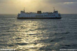 TESO-boot in het tegenlicht