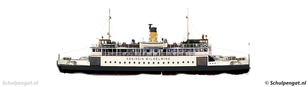 Zijaanzicht TESO-enkeldekker Koningin Wilhelmina (1960)