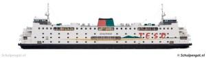 Zijaanzicht TESO-boot Schulpengat (1990)