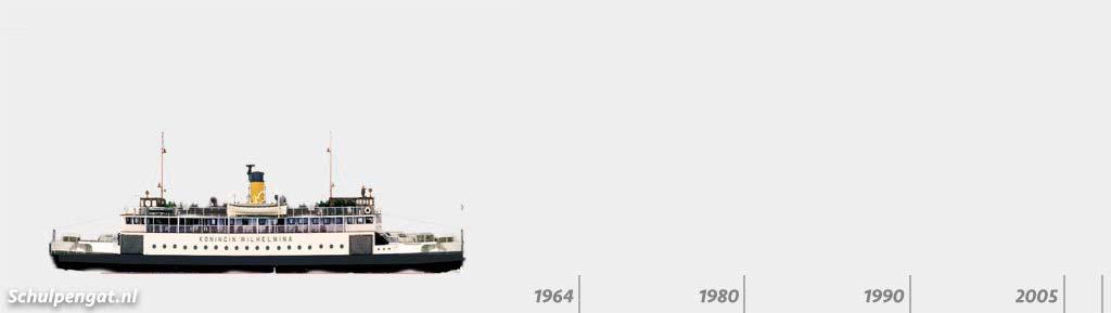 Zijaanzicht TESO-vloot Koningin Wilhelmina (1960)