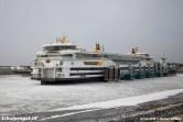 Begin maart 2018 was het nog erg koud in Nederland, na een lange periode van vorst. Delen van de Waddenzee zijn bevroren.