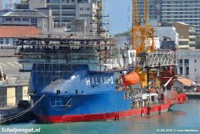 De Molengat is onherkenbaar verbouwd en vaart tegenwoordig als offshore-vaartuig vanuit Walvisbaai, Namibië.