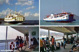 PSD-veerboot in Indonesië & TESO-veerboot op Malta