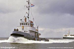Marinesleepboot Wielingen en de Texelstroom