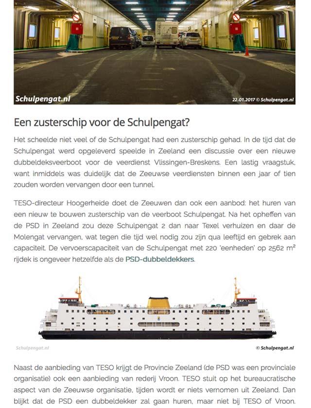Alle TESO-veerboten en -aanlegplaatsen hebben een eigen pagina met geschiedenis en interessante informatie