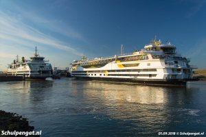 Texel met het vlaggenschip veerboot Texelstroom