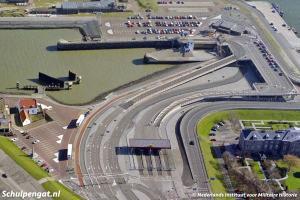 Luchtfoto veerplein Den Helder