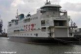 De Schulpengat ligt aan de kade tijdens de retrofit in Schiedam, de veerboot heeft hierbij dezelfde huisstijl gekregen als de Dokter Wagemaker (2005).