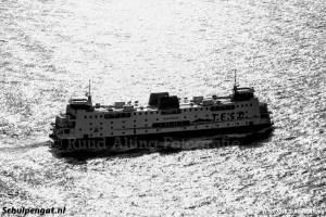 Tegenlicht Schulpengat op de Noordzee