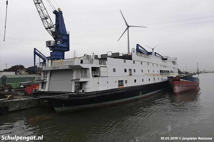 De sloop van de Schulpengat is begin 2019 hervat.