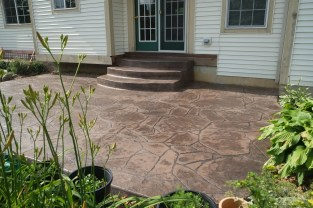 Stamped Arizona Flagstone Patio