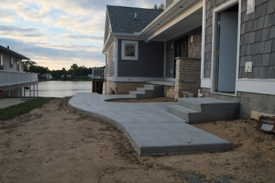 Plain concrete steps and landings