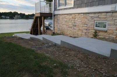 Plain concrete steps and landings