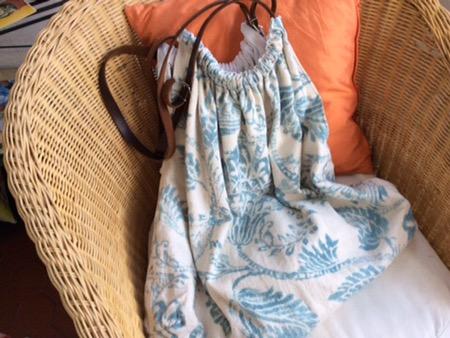 Einkaufstasche aus französischem Leinen selber nähen