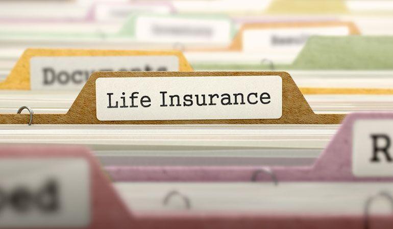 "filing folder labeled ""life insurance"""