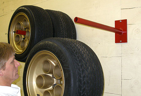 Universal Wheel and Tire Hanger by Merrick Machine