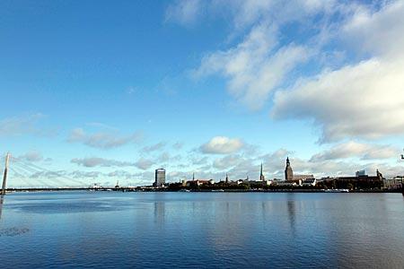 Lettland - Riga -  Blick über die Daugava