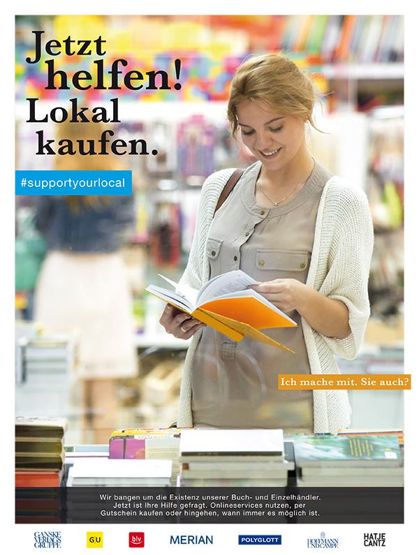 Jetzt helfen! Lokal kaufen. | © Ganske Verlagsgruppe