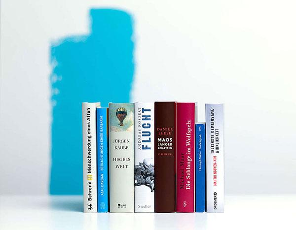 Die nominierten Titel des Deutschen Sachbuchpreises 2021 | © vntr-media