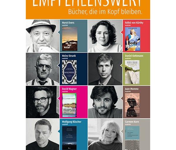 """""""Empfehlenswert. Bücher, die im Kopf bleiben"""" Rowohlt-Autor:innen starten eine Patenschafts-Kampagne"""