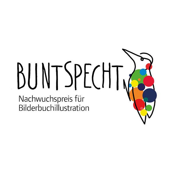Buntspecht Logo Nachwuchspreis für Bilderbuchillustration