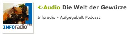 Selbstständig mit Gewürzen - Ein Interview im rbb Inforadio als Podcast