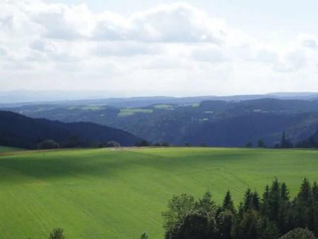 Vista sobre el paisaje