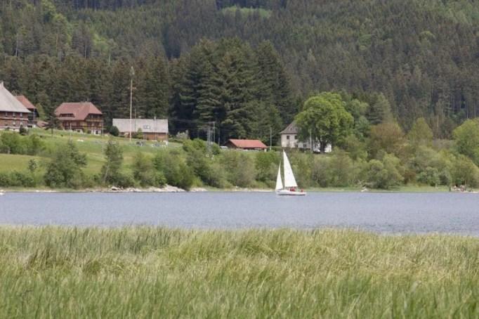 Schluchsee mit Segelboot