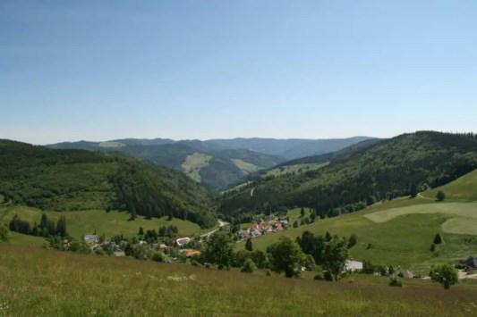 Blick von Muggenbrunn Obere Häuser