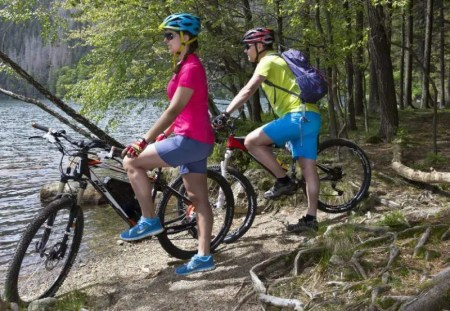 Mountainbiker am Feldsee