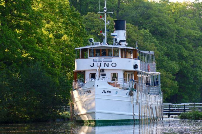 Die MS Juno. Unser Schiff für die Fahrt auf dem Göta Kanal. (Foto Andrea Ullius)